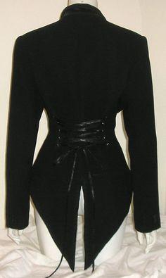 Victorian Corset Jacket Tux Tail Coat Steampunk by Revamporium, £36.00