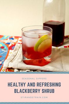 Got extra blackberries? Make this simple and delicious Classic Blackberry Shrub for cocktails and mocktails this summer. // stirandstrain.com  #summer #cocktails #entertaining Easy Cocktails, Craft Cocktails, Summer Cocktails, Fun Drinks, Cocktail Recipes, Cocktail Making, Blackberries, Bartender, Happy Hour