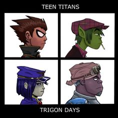 Trigon Days - Teen Titans/Gorillaz mash-up