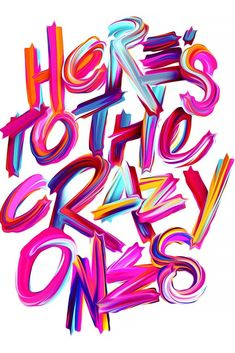 Creative Typography, Lettering, Typeverything, Heres, and Crazy image ideas & inspiration on Designspiration Web Design, Grid Design, Graphic Design, Type Design, Slogan Design, Graphic Prints, Typography Letters, Hand Lettering, Quote Typography