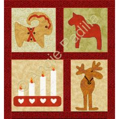 Julbok and friends | God Jul | Block of the Month | Angie's Bits 'n Pieces