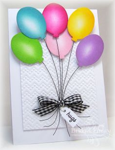 Wired Balloon Bouquet card - bjl