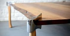 Table with axe legs - Album on Imgur