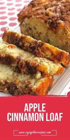 Apple Cinnamon Loaf -  #desserts #apple #load #easyrecipe #recipes #simsimarecipes Enjoy The Recipes Apple Cinnamon Loaf, Cinnamon Cake, Apple Bread, Cinnamon Apples, Banana Bread, Apple Loaf, Cinnamon Desserts, Cinnamon Recipes, Apple Cake Recipes