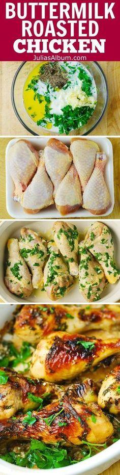 Buttermilk Roast Chicken with Garlic