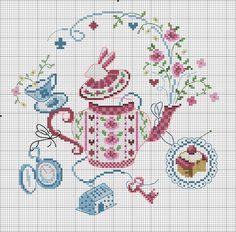 """Este lindo bordado para dar """"um ar"""" especial a qualquer canto da nossa cozinha, copa.... Uma maravilha!!!!"""