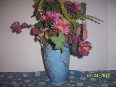 Wedding Vase Centerpiece Blue MARBLE Ceramic by NAESBARGINBASEMENT, $6.00