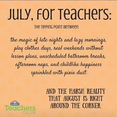 The Teacher Countdown To End Of Summer Is So Different From Parent