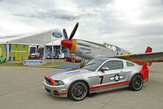 Red Tails Edition #Mustang GT. A tribute to the #Tuskegee Airmen and the P51 Mustang fighter plane from World War II. It was auctioned off for charity in 2012.