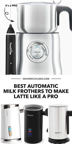 On the days we're too busy to make the perfect latte, we can count on a good, automatic milk frother! If you're looking for a good one, here's a list of recommended units handpicked by me, a tea sommelier. Click to browse! Hot Tea Recipes, Milk Cafe, Matcha Latte Recipe, Perfect Cup Of Tea, Earl Grey Tea, Tea Latte, Chamomile Tea, Tea Sandwiches, Brewing Tea