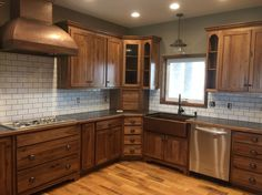 apron sinks oak cabinets - Google Search