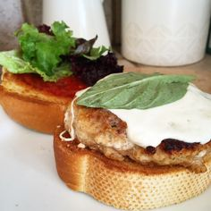 Chicken Parmesan Burgers by Parsley and Pepper