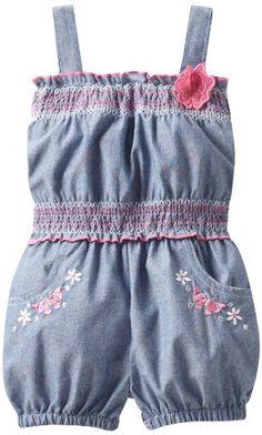 Little Lass Baby-Girls Newborn 1 Piece Romper with Smocking - List price: $23.00 Price: $14.00 Saving: $9.00 (39%)