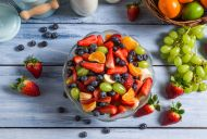Fruit Salad with Herb Syrup Recipe from 50 Sensational Salad Recipes - The Daily Meal Healthy Snacks For Diabetics, Healthy Fruits, Healthy Life, Healthy Living, Dinner Recipes For Kids, Kids Meals, Vegan Detox, Healthy Detox, Eat Healthy