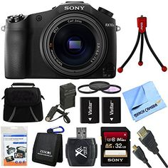 Sony Cyber-shot DSC-RX10M II DSC-RX10M2 RX10M2 4K Video 20.1 MP Digital Camera 32GB Card Bundle includes Sony DSC-RX10M II Cyber-shot Digital Camera, Screen Protectors, Gadget Bag, Memory Card Wallet, Card Reader, 32GB Memory Card, HDMI Cable Beach Camera Cloth and More * Check out the image by visiting the link.