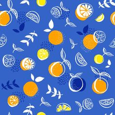 Orange pattern by Nathalie Ouederni