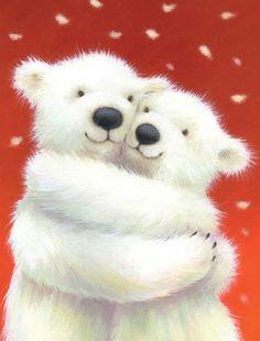Dufex Foil Print Christmas Cuddle Polar Bear Cubs   eBay