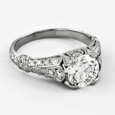 Vintage Inspired Diamond Engagement Ring   Perry's Fine Antique & Estate Jewelry