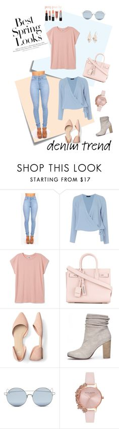 """Untitled #52"" by t7atti ❤ liked on Polyvore featuring Post-It, H&M, Vibrant, Boohoo, Yves Saint Laurent, Chinese Laundry, For Art's Sake, Olivia Burton and LC Lauren Conrad"