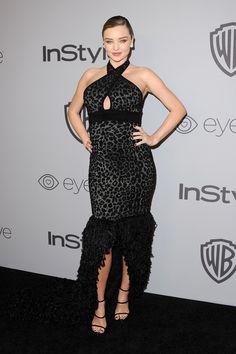Miranda Kerr at Golden Globes 2018 Diane Kruger, Miranda Kerr, Sheer Dress, Strapless Dress Formal, Golden Globes After Party, Balmain Dress, Vestidos Sexy, Star Wars, Printed Gowns