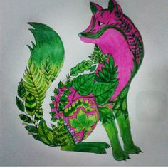 Johanna Basford Enchanted Coloring Fox Forest Maryland Nice Meeting You Red Foxes