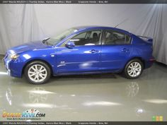 2007 Mazda MAZDA3 s Touring Sedan Aurora Blue Mica / Black Photo #3