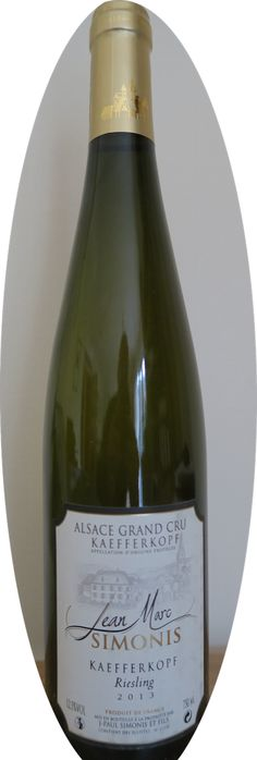Alsace Grand Cru Riesling 2013 from Jean-Marc Simonis, family producers in Ammerschwihr.  Available from www.Goodwinehunter.co.uk