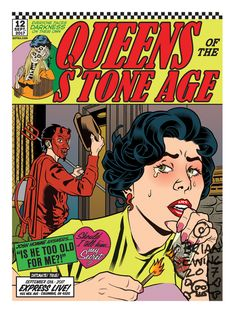 Queens of the Stone Age Columbus Poster 2017 by Brian Ewing