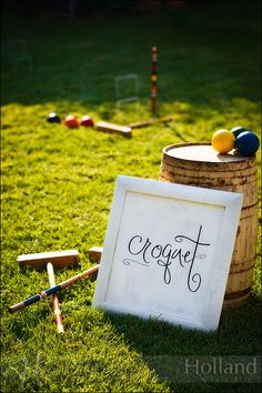 croquet party with cocktails