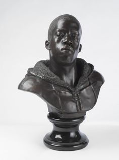 From Brooklyn Museum, Kehinde Wiley, Houdon Paul-Louis Bronze with polished stone base, 34 × 26 × 19 in Kehinde Wiley, Portrait Art, Color Portrait, Portraits, Black Art, Art Museum, Art History, Contemporary Art, Sculptures