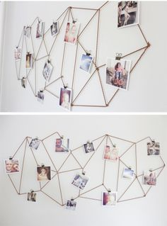 Geometric Photo Display - option for seating assignments