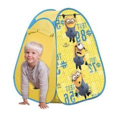 RZOnlinehandel - Zelt Pop-up Minions 74244 Hanging Chair, Pop Up, Toddler Bed, Kids Rugs, Home Decor, Little Girl Clothing, Outdoor Camping, Cuba, Child Bed
