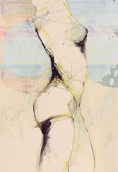 This is a fine-art print of the original work by Jylian Gustlin, set in a wood frame finished in white. Figure Painting, Figure Drawing, Painting & Drawing, Inspiration Artistique, Illustration Art, Illustrations, Art Abstrait, Life Drawing, Drawing People