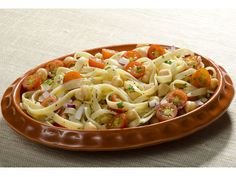 Danielle's Cold Fettuccine Salad with chickpeas and cherry tomatoes