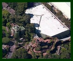 Disneyland's Haunted Mansion. Behind it is the actual ride....look how big it really is!