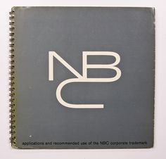 cover of NBC brand guidelines manual by John J. Graham (1959)