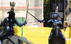 Arne Koets and Alix van Zilj during the Grand Tournament at Schaffhausen (photo by Andreas Petitjean) The Jousting Life