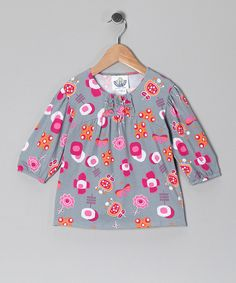 Take a look at this Gray Funtime Tunic - Infant & Girls on zulily today!