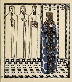 carl otto czeschka's nibelungen illustrations.