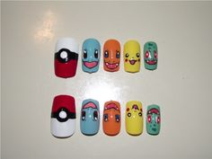 Pokemon Nails by Momousui.deviantart.com