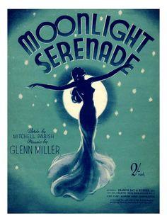 - Moonlight Serenade, Glenn Miller, Sheet Music Cover