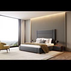 Contemporary Bedroom Interior Design That Very Cozy 04 Realivin Modern Luxury Bedroom, Luxury Bedroom Design, Contemporary Bedroom Furniture, Bedroom Bed Design, Modern Master Bedroom, Luxurious Bedrooms, Luxury Interior Design, Home Interior, Contemporary Headboards