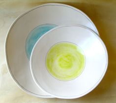 thin yummy serving bowls. etsy