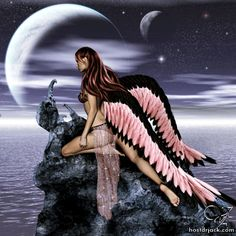 Gothic Fairies | ... : Fairy Pictures Fairies Glitter Graphics Pink Blue Black Fairy
