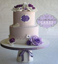 Elegant Birthday Cakes For Women | elegant birthday cake made for a mum who loves the color purple cake ...