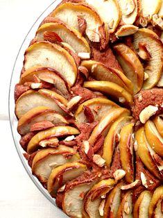 Gâteau pommes, dattes, cannelle by Britt du blog Green Cuisine www.sweetandsour.fr