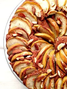 Gâteau pomme datte cannelle sans sucre sans gluten vegan vegetalien