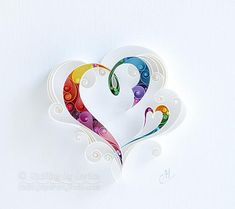 Quilling Paper Wall Art Always together.