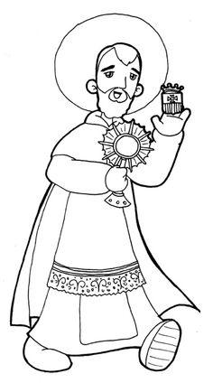 patron saint coloring pages - photo#13