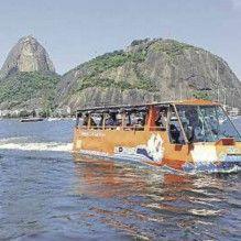 Onibus anfibio estreia no Rio - sairá do Pao de Açucar | Blue Bus